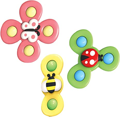 Amazon Co Jp 指ハンドスピナー こまおもちゃサクションカップこまおもちゃ こまおもちゃ 面白い赤ちゃん回転おもちゃ ストレス解消のための子供幼児のための不安防止ギフト おもちゃ
