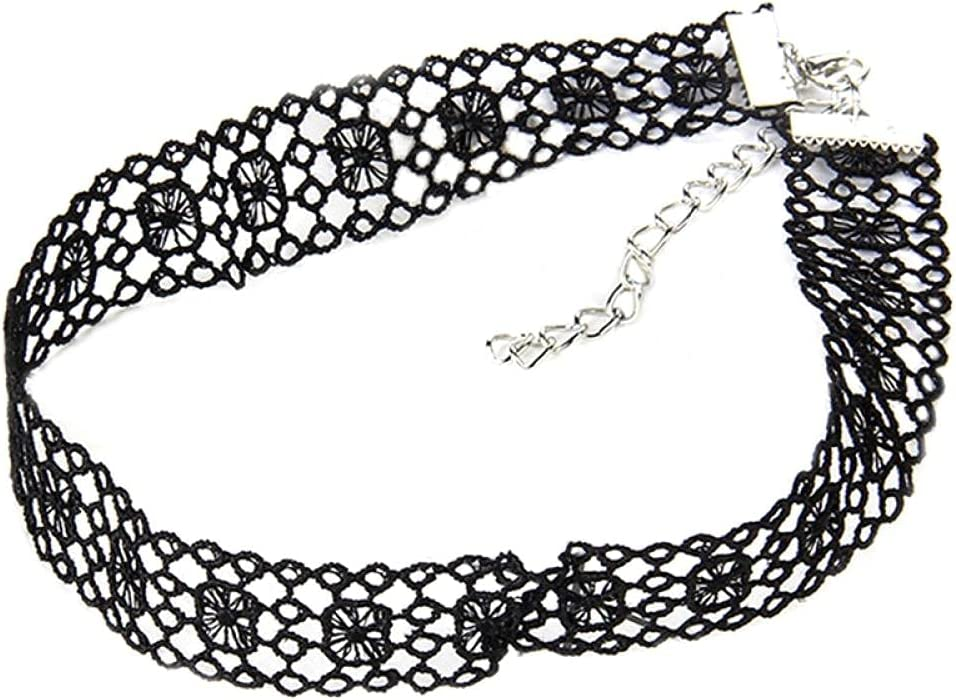 Choker Gothic 1pcs Lace Choker Necklace Creative Vintage Short Necklace Collar Tattoo Sexy Clavicle Necklace Jewelry Accessories