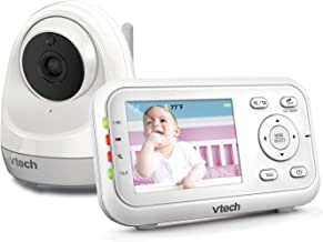 "VTech VM3261 2.8"" Digital Video Baby Monitor with Pan & Tilt Camera, Full Color and Automatic Night Vision, White"