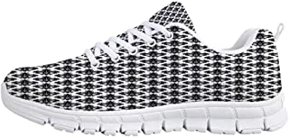 Fleur De Lis Comfortable Sports Shoes,Floral Pattern with Pointed Buds and Curved Leaves Ancient Western Motifs Decorative for Men & Boys,US Size 6.5