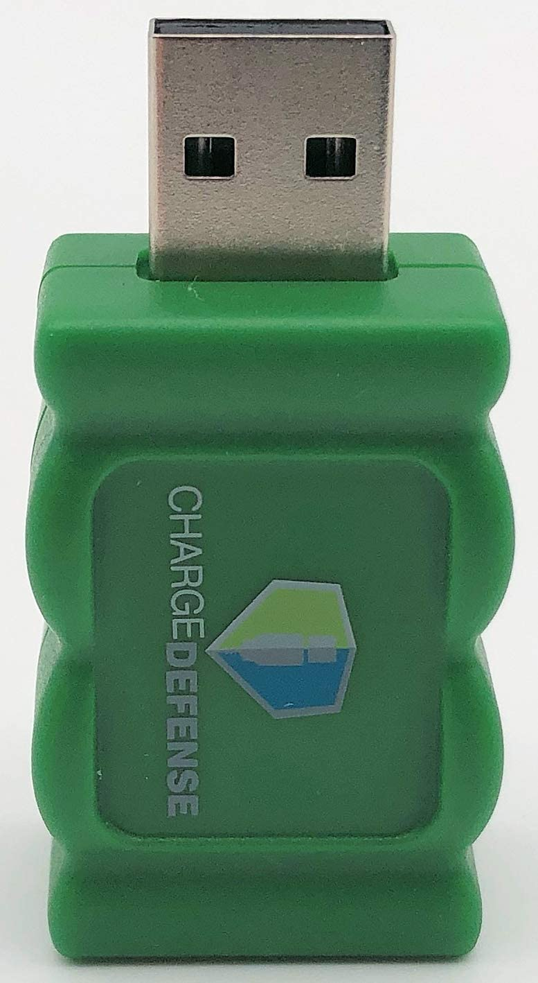 1 Green 4th Gen USB Data Blocker, Juice-Jack Defender Protect Against Juice Jacking, Mobile Security Gadget Purchased by White House to Protect its Employees and Networks (Green, 1 Count)