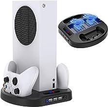 TwiHill Suporte de carregamento vertical para controladores Xbox Series S com ventilador de resfriamento, estação de carre...