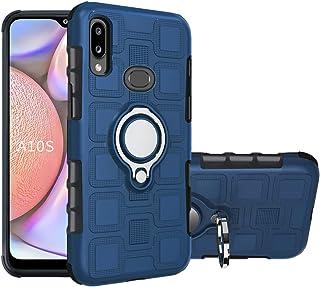 جراب QiongNi لهاتف Samsung SM-A107F/DS Galaxy A10s 2019 / SM-A107F SM-A107M SM-A107M SM-A107M / DS غطاء حماية + حامل حلقة ...