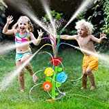 Water Sprinkler for Kids Outdoor Play Yard,Water Toys for Toddlers 1-3,Splash Kids Sprinkler for Yard Outdoor Activities Lawn Backyard Outside,Games Water Toys for 1 3 5 Year Old Boys Girls 2-4 4-8
