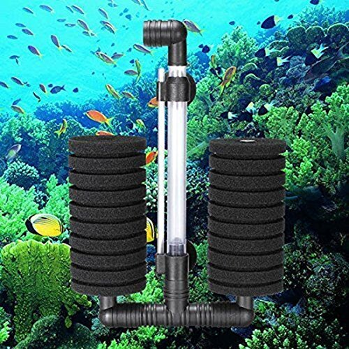 TaoNaisi XY-2822 Luftpumpe Doppel Schwamm Wasserfilter für Aquarium