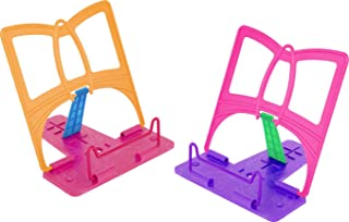 Cook Book Easel - Pack of 2 - Book Rest for Reading - Receipe Book Holder - Folding Bookstand