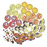 CAOLATOR Japanischer Still Aufkleber Puppe Sticker Kinder Mädchen Sticker Vintage Deko Papier Stickerbögen für Scrapbooking Stickerbuch Tagebuch Notizbuch Kalender Dekoration