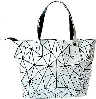 Mily Hologram Tote Shoulder Bag Lightweight Laser PU Leather Purse