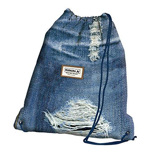Senfort Jeans Bolsillo Suelto para Mochila, 43 cm, Liso
