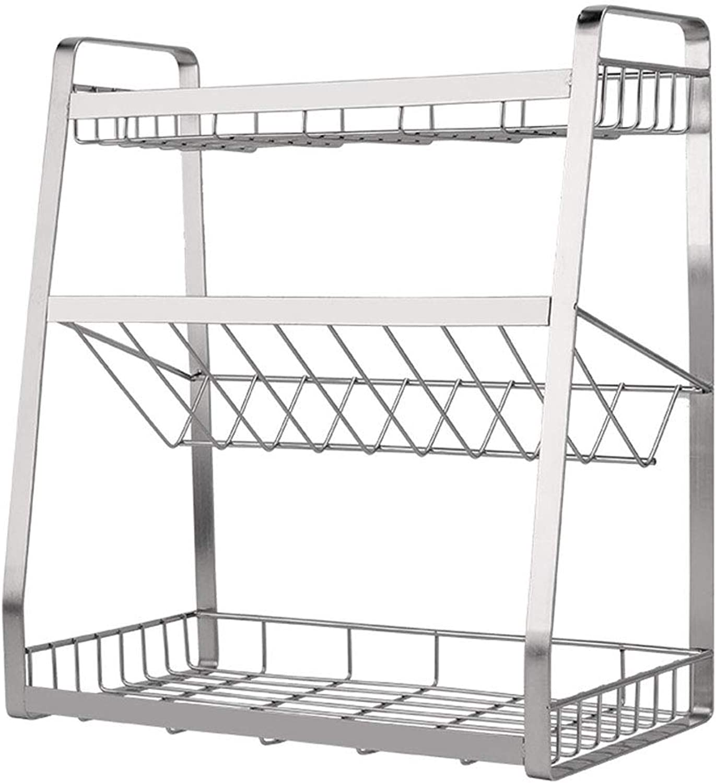 Stainless Steel Kitchen Storage Rack, Floor-Standing Creative Sauce Storage Rack