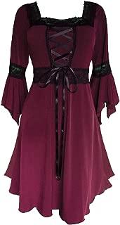 Dare to Wear Women's Plus Size Victorian Gothic Renaissance Corset Dress