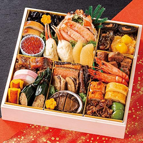 北海道 北のシェフ おせち料理 2021 海鮮おせち 一段重 特大8寸 24品 盛り付け済み 冷凍おせち 2人前〜3人前 お届け日:12月30日