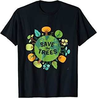 TIANLANGHB Save Trees Shirt Tree Hugger Environmental Protect Forests