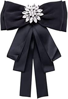 Fashion Brooches Pin Bow Tie Crystal Dangle Formal Wedding Party EH7921