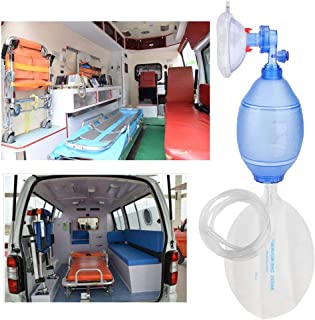 haofy Adult Manual Simple PVC Breathing Apparatuswith Oxygen Tube, Reservoir Bag