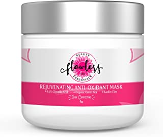 Rejuvenating Glycolic Acid Anti-Oxidant Mask To Reduce Fine Lines,Wrinkles,BlackHeads,To Minimize Pore. Antibacteria & Detoxifying W/Gentle Exfoliation.W/Green Tea,Vitamin C,Kaolin Clay,Aloe,&Rosehip