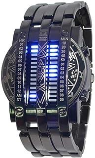 Montres Hommes LED Binaire Double rangée de Montres légères Iron Man Couple Montre électronique