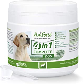 AniForte 4in1 Complete Dog Pulver 250g - Natürliche Rundumversorgung für Hunde aus Gelenkpulver, Unterstützung Gelenke, Immunsystem, Haut, Fell, Magen-Darm-Aktivität mit hoher Akzeptanz