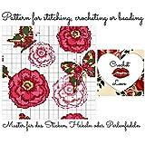 Crochet Love- Butterflies and Roses: Pattern for stitching, crocheting or beading - Muster für das Sticken, Häkeln oder Perlenfädeln (German Edition)