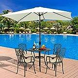 NBVCX Life decoration Sunshade sunshade umbrella <span class='highlight'><span class='highlight'>Britoniture</span></span> 2 x 3M Garden Parasol Umbrella Sun Shade Outdoor Patio with Push Button Tilt and Crank Green