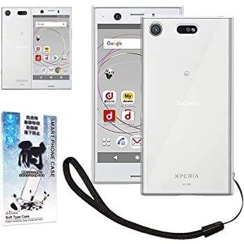 シズカウィル(shizukawill) SONY Xperia XZ1 Compact SO-02K ケース 専用 クリアケース カバー 衝撃吸収 防指紋 高透明 ストラップ付 (SONY Xperia XZ1 Compact, クリア)
