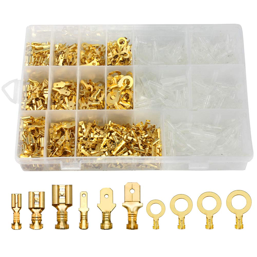 150x Cable Lugs Car Electrical Wire Terminals Crimp Connectors With Sleeves UK