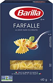 Barilla Farfalle Pasta | 410 Grams (Pack of 12) | Non-GMO Pasta Made with Durum Wheat Semolina | Enriched with Iron and B ...