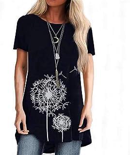 الأزهار طباعة قصيرة الأكمام المرأة t-shirt الإناث تي شيرت الشارع الشهير فضفاض عارضة زائد حجم النساء الملابس (Color : 10, S...