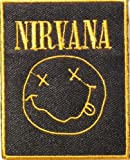 """2.5"""" x 3""""NIRVANA Heavy Metal Rockabilly Rock Punk Music Band Logo jacket T-shirt Patch Iron on Embroidered Sign -"""