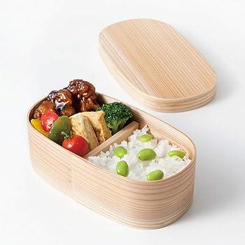 山家漆器店 曲げわっぱ 弁当箱 国産 500ml まげわっぱ 日本製 白木 被せ蓋