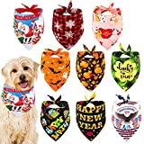 Whaline Holidays Dog Bandanas Scarf Pet Bibs Dog Triangle Neckerchief Costume Accessories for Small Medium Large Dog Birthday Valentine St. Patrick's Day