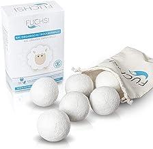 FUCHSI Trocknerbälle - 6 Stück   100% neuseeländische Schafwolle   natürliche Alternative für Weichspüler   Trocknerkugeln aus Wolle für Wäschetrockner   Umweltschonend, Zeitsparend, Stromsparend