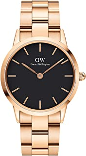 Daniel Wellington Japanese Quartz Watch with Stainless Steel Strap, Rose Gold, 18 (Model: DW00100210)