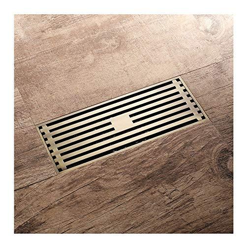 Handheld Desagüe en el piso Estilo europeo Latón Baño Ducha lineal Tipo de desodorización Tapa Escurridor de desechos Para el baño