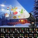 Proiettore natalizio LED 2 in 1 (neve + immagini) con telecomando