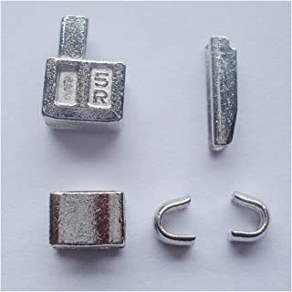 2 sets silver #5 metal zipper head box zipper sliders retainer insertion pin easy for zipper repair,Zipper Repair Kit (silver)