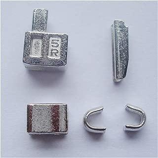 2 sets silver #5 metal zipper head box zipper sliders retainer insertion pin easy for zipper repair,Zipper Repair Kit (silver)
