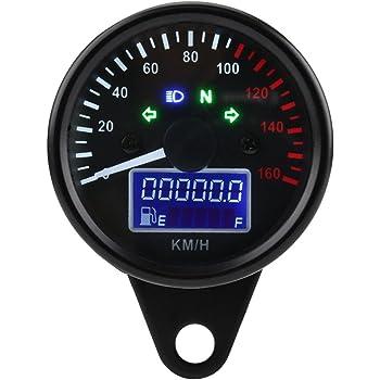 MeterMall Calibro dellodometro del tachimetro del tachimetro del Segnale LCD Universale del Motociclo per Il motorino