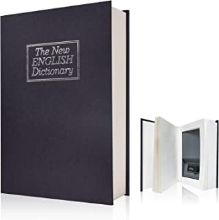 wishacc Real Paper Black dictionay Book Safe