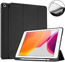 "ProCase Funda con Portalápiz para iPad 10,2 2019, Carcasa Libro con Soporte Plegable Tapa Inteligente Reverso Flexible TPU para 2019 Apple iPad 7.ª Generación 10.2"" -Negro"