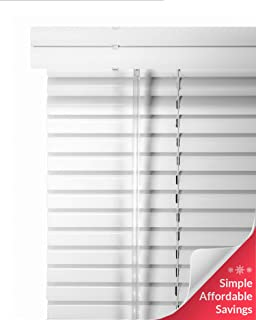 CHICOLOGY Custom Made Corded 1-Inch Aluminum Mini Blind, Blackout Horizontal Slats, Inside Mount, Room Darkening Perfect for Kitchen-Bedroom-Living Room-Office and More - 90