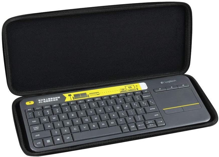 Hermitshell Hard EVA Travel Nylon Case fits Logitech K400 920-007119 Plus Wireless Touch Keyboard