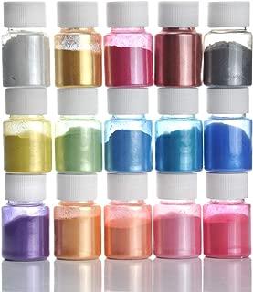 Slime Powder, DIY Mica Powder, Epoxy Resin Dye Natural Powder Pigments, for Adhesive Pigments, Bath Bomb Dyes, Soap Making, and Bright Nail Art (15 Colors 10g/0.35oz Each)