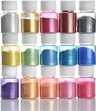 Mica Powder- Natural Powder Pigments- Epoxy Resin Dye- for DIY Slime, Adhesive Pigments, Bath Bomb Dyes, Soap Making, Etc. (15 Colors 10g/0.35oz Each)