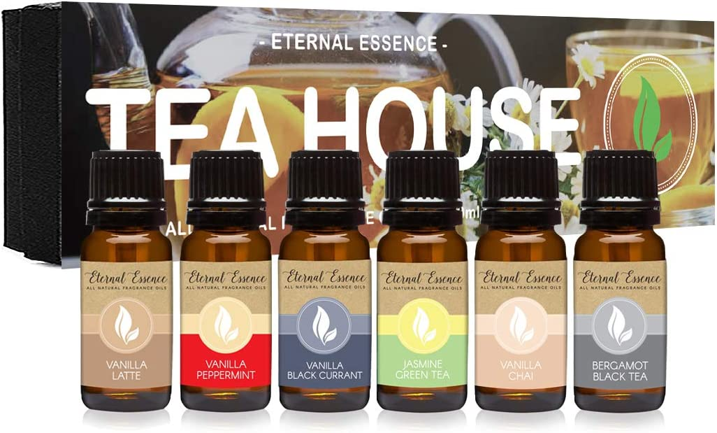 Tea House Max 86% OFF - Gift Set of 6 Oils All lowest price Natural Fragrance Vanilla L