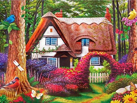 5D diamante bordado DIY diamante pintura'jardín casa' mosaico pintura digital regalo decoración del hogar