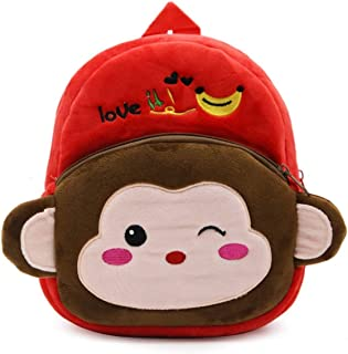 Cartoon Kids Boys Girls Plush Backpacks Baby Toy Schoolbag Student Kindergarten Backpack Cute Children School Bags - Multi-Color Mixed