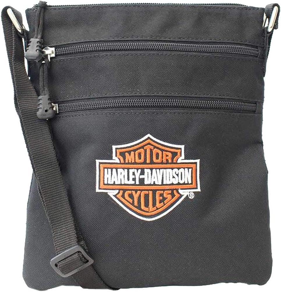 Harley-Davidson Embroidered Bar & Shield Logo Crossbody Purse w/Adjustable Strap