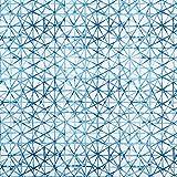 Dekostoff Canvas Grafisch – blau — Meterware ab 0,5m