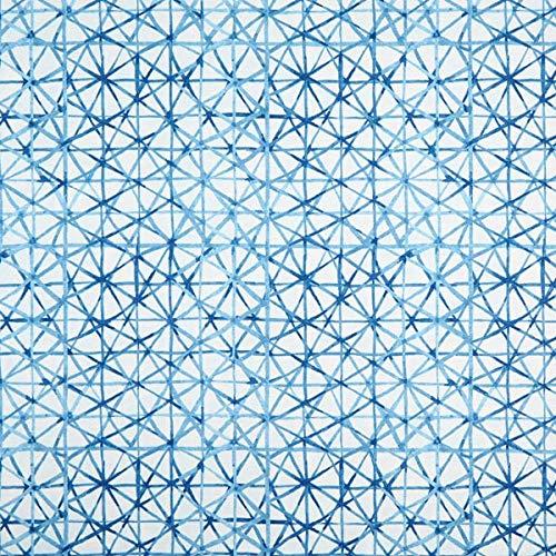 Dekostoff Canvas Grafisch – blau — Meterware ab 0,5m — STANDARD 100 by OEKO-TEX® Produktklasse II — zum Nähen von Taschen, Kissen/Tagesdecken & Homeaccessoires